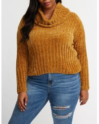 Charlotte Russe - Plus Size Cowl Neck Sweater - Lyst