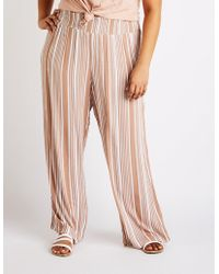 36ef05357b8f0 Charlotte Russe - Plus Size Striped Smocked Palazzo Pants - Lyst