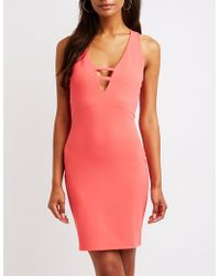 Charlotte Russe - Caged Bodycon Dress - Lyst