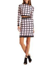 Charlotte Russe - E-ls.grid.print.crop..bc.skirt.hu - Lyst