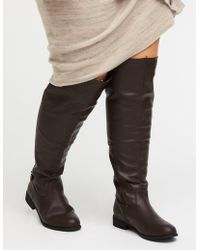 Charlotte Russe - Wide Over The Knee Boots - Lyst
