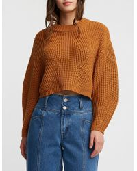 Charlotte Russe - Mock Neck Crop Pullover Sweater - Lyst