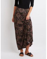 Charlotte Russe - Paisley Print Maxi Skirt - Lyst