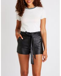 Charlotte Russe - Ruffle Paperbag Shorts - Lyst