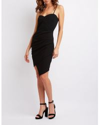 Charlotte Russe - Sleeveless Ruched-detailed Dress - Lyst