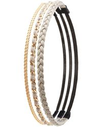 Charlotte Russe - Braided & Chain Headbands - 3 Pack - Lyst