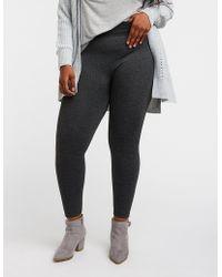 754903c70c25b9 Charlotte Russe - Plus Size Marled Fleece Lined Leggings - Lyst