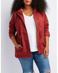 Charlotte Russe - Plus Size Hooded Anorak Jacket - Lyst