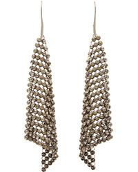 Charlotte Russe - Chainlink Mesh Drop Earrings - Lyst