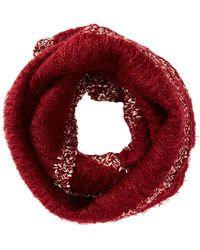 Charlotte Russe - Metallic-trim Knit Infinity Scarf - Lyst