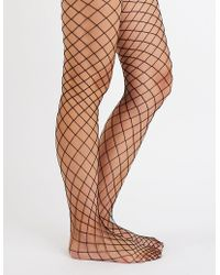 Charlotte Russe - Fishnet Tights - Lyst