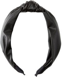 Charlotte Russe - Faux Leather Headband - Lyst