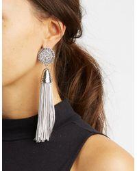 Charlotte Russe - Fringe Tassel Earrings - Lyst