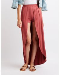 Charlotte Russe - Layered Maxi Skirt - Lyst