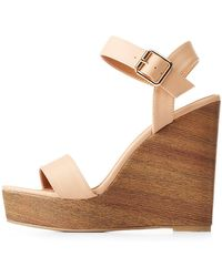 Charlotte Russe - Ankle Strap Wedge Sandals - Lyst