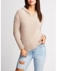 Charlotte Russe - Chenille Pullover Hoodie - Lyst