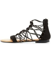 Charlotte Russe - Strappy Flat Sandals - Lyst