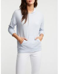 Charlotte Russe - Brushed Knit Hoodie Top - Lyst