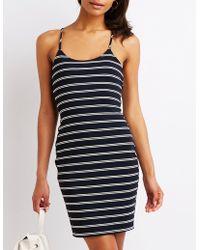 e081b6b868e Lyst - Charlotte Russe Asymmetrical Wrap Maxi Dress in Black