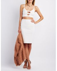 Charlotte Russe - Caged Crop Top & Pencil Skirt Hook-up - Lyst