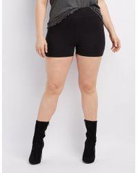 Charlotte Russe - Plus Size High-rise Bike Shorts - Lyst