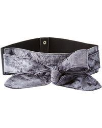 Charlotte Russe - Plus Size Velvet Bow Waist Belt - Lyst