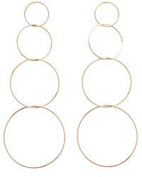 Charlotte Russe - Tiered Hoop Drop Earrings - Lyst