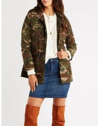 7010a3e0f88 Lyst - Charlotte Russe Sherpa Hooded Anorak Jacket in Blue
