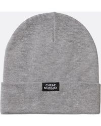 98956b6a2bb Cheap Monday Cheap Reflective Review Beanie in Black for Men - Lyst