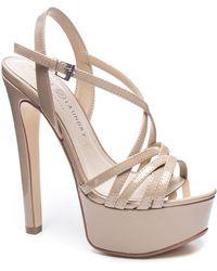 04c629230b Jessica Simpson Mayfaran Platform Dress Sandals in Black - Lyst