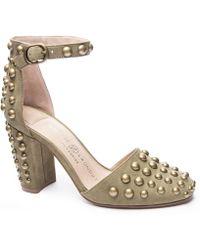52687e48110b Lyst - Caparros Vegas Platform Evening Sandals in Metallic