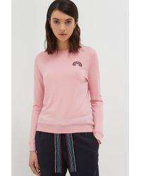 Chinti & Parker - Pink Cashmere Rainbow Badge Sweater - Lyst
