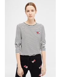 Chinti & Parker - Ivory Long Sleeve Twin Heart T-shirt - Lyst