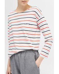 Chinti & Parker - Ivory 3/4 Heart Pocket T-shirt - Lyst