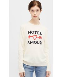 Chinti & Parker - Cream Hotel Amour Sweater - Lyst