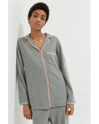 Chinti & Parker - Grey Piped Cashmere Pyjama Top - Lyst