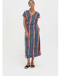 Chinti & Parker - Rainbow Striped Jersey Dress - Lyst