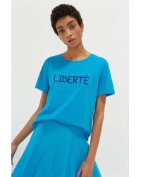 Chinti & Parker - Blue Liberté Organic Jersey T-shirt - Lyst