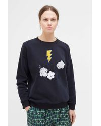 Chinti & Parker - Navy Cloud Applique Sweatshirt - Lyst