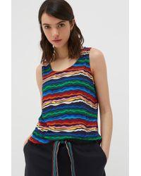 Chinti & Parker - Rainbow Striped Jersey Vest - Lyst