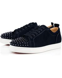 012136346be1 Lyst - Christian Louboutin Louis Junior Spikes Men s Flat in Blue ...