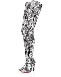 43ec2045289 Lyst - Christian Louboutin Gravitissima Over-the-knee Boots in Black