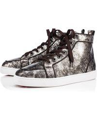 d26b635242e2 Lyst - Christian Louboutin Rantus Flat Python Sneakers in Black for Men