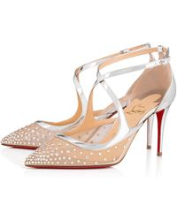 91f3d4921554 Lyst - Christian Louboutin Twistissima Strass in Pink