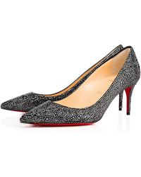 c7b5d141ee7 Lyst - Christian Louboutin Decollete Crystal-Embellished Pumps