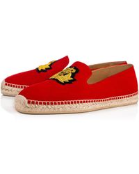 afb17b3565a Christian Louboutin Roller-boat Veau Velours spikes in Red for Men ...