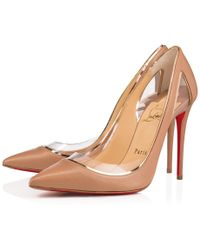 a56147c40c9 Lyst - Christian Louboutin Cosmo 554 Patent vinyl High-heel Red Sole ...