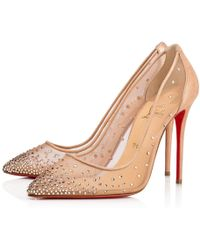 a762dd5e9c77 Lyst - Christian Louboutin Follies Strass Mixed Red Sole Flats in ...