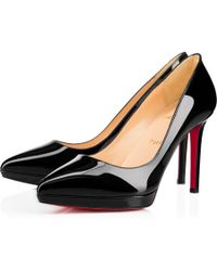 53118872d1e2 Lyst - Christian Louboutin Pigalle Plato 120 Studded Leather Pumps ...