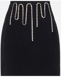 Christopher Kane - Crystal-embellished Miniskirt - Lyst